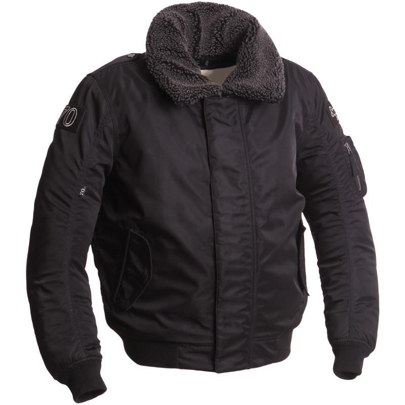 Blouson / Bomber textile Moto Segura Mitchell - Etanche, Doublure thermique, Protections épaules / coudes amovibles (taille L à 2XL)