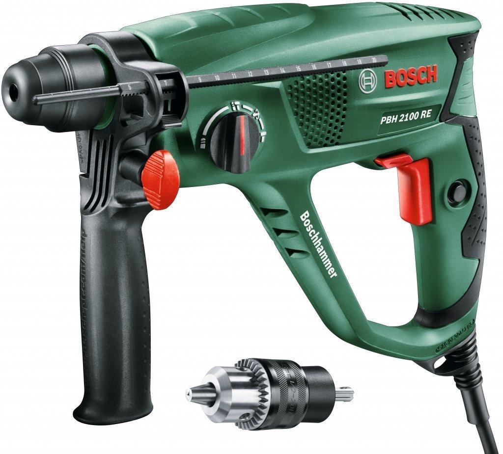 Perforateur Bosch Universal PBH 2100 SRE avec coffret mandrin et butée de profondeur