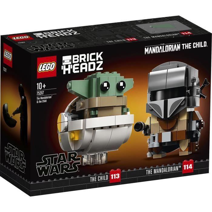 Jouet Lego BrickHeadz Star Wars - Le Mandalorien et l'Enfant (75317)