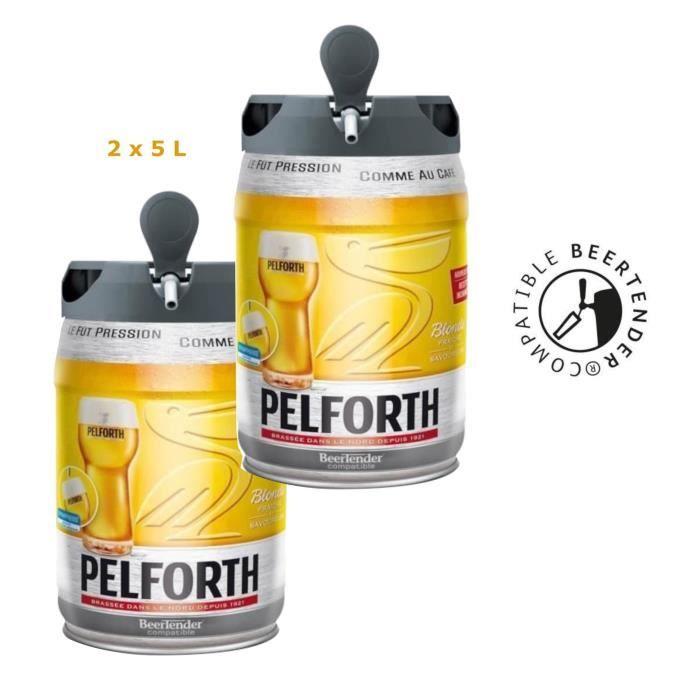 Lot de 2 Fûts de Bière Blonde Pelforth Compatibles Beertender - 2 x 5L