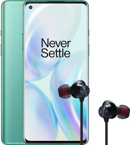 "Sélection de smartphone en promotion - Ex: 6.55"" OnePlus 8 - full HD+, SnapDragon 865, 12 Go de RAM, 256 Go, 5G, vert (frontaliers Belgique)"