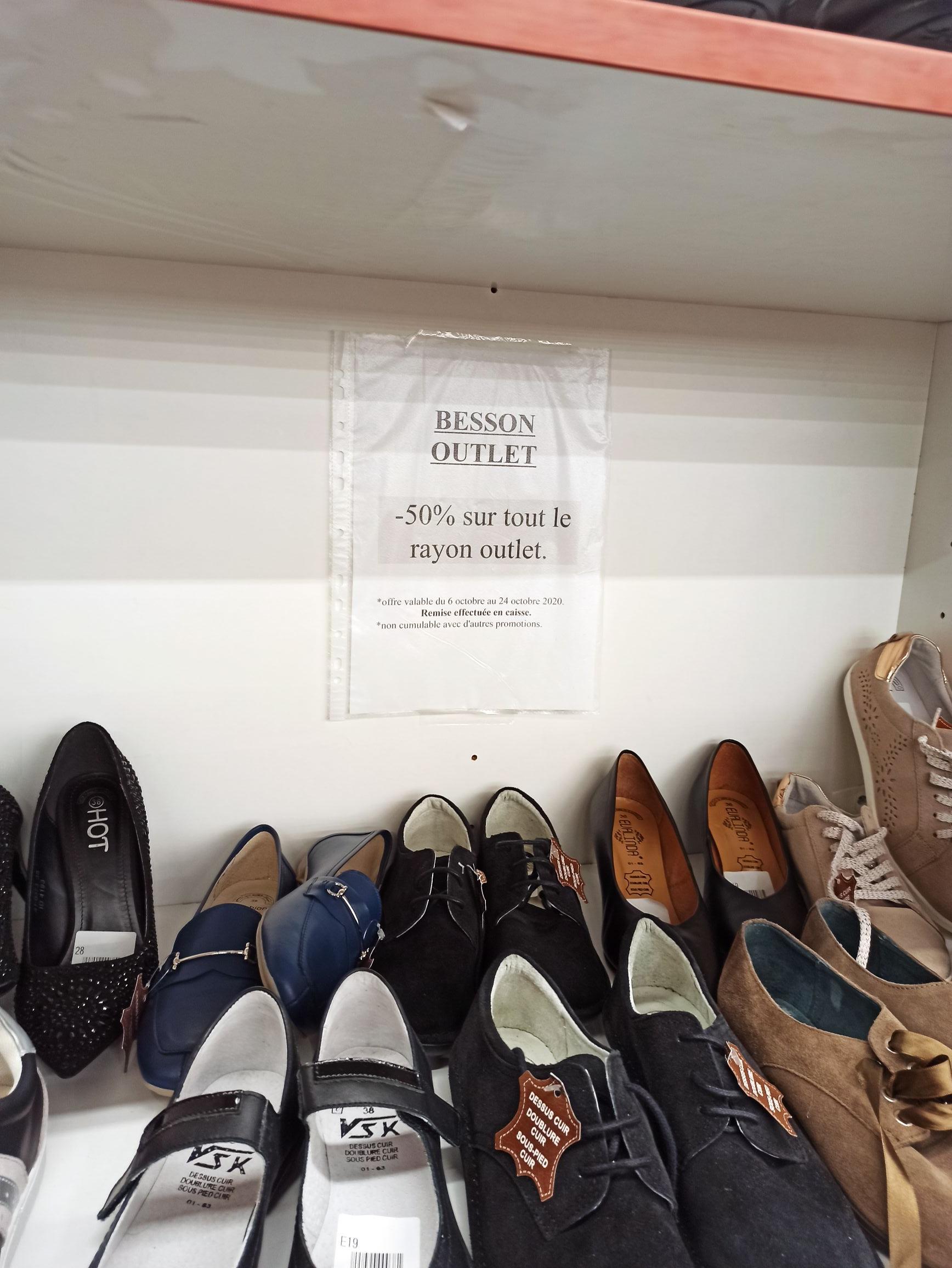 50% de réduction sur une sélection de chaussures Outlet - Bruay la Buissiere (62)