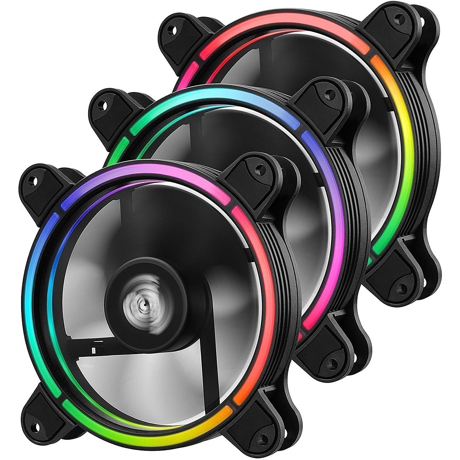 Pack de 3 Ventilateurs PC Enermax T.B. RGB AD - 120 mm