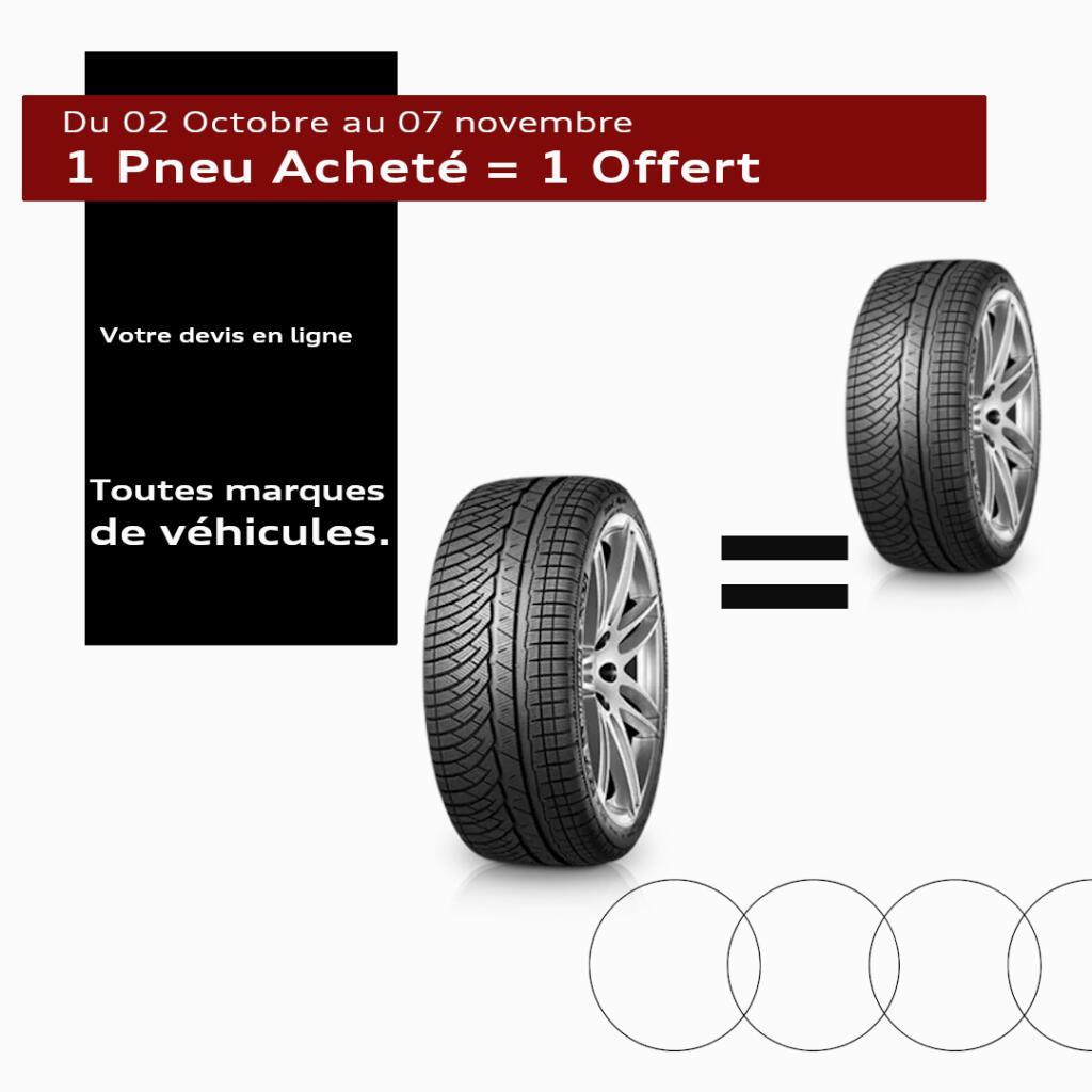 1 pneu acheté = 1 pneu offert - Audi Le Mans Ruaudin (72)