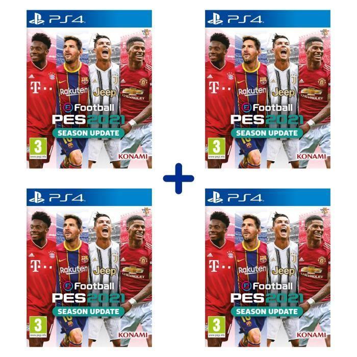 Lot de 4 Jeux eFootball PES 2021 - Season Update sur PS4
