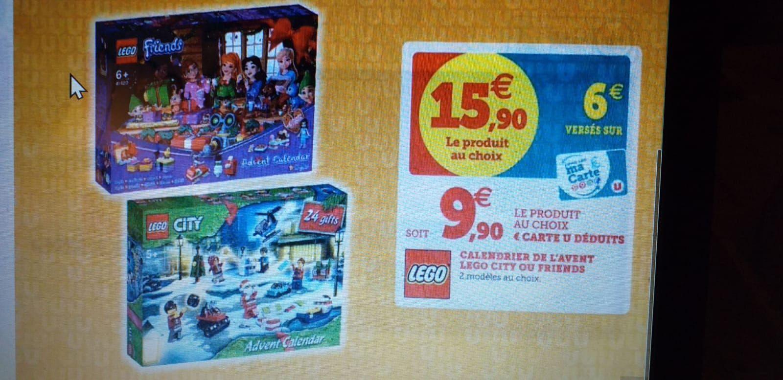 Calendrier de l'avent Lego City ou Friends (via 6€ sur la carte fidélité)