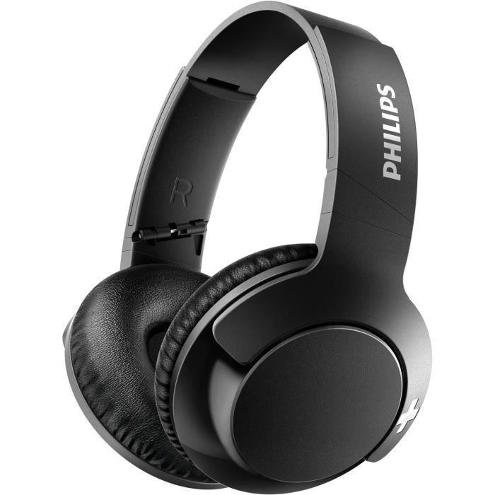 Casque sans-fil Philips SHB3175BK/00 - Bluetooth, Bass+, 12h d'autonomie