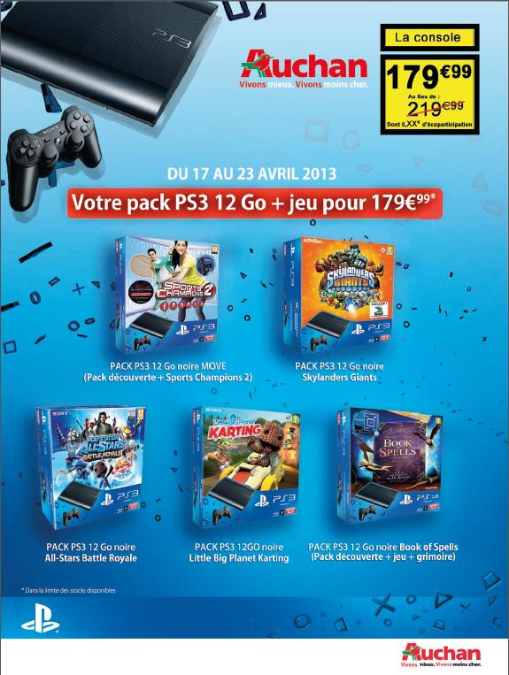 Plusieurs packs Console Sony PlayStation 3 12 Go + Manette Dualshock 3 + 1 jeu ( ex :  Little Big Planet Karting )