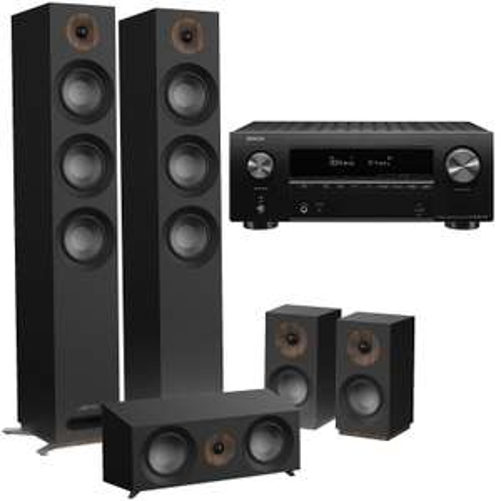Ampli-tuner Home Cinema Denon AVR-X2700H DAB (Noir) + Kit Enceintes 5.0 Jamo S 809 HCS (Noir)