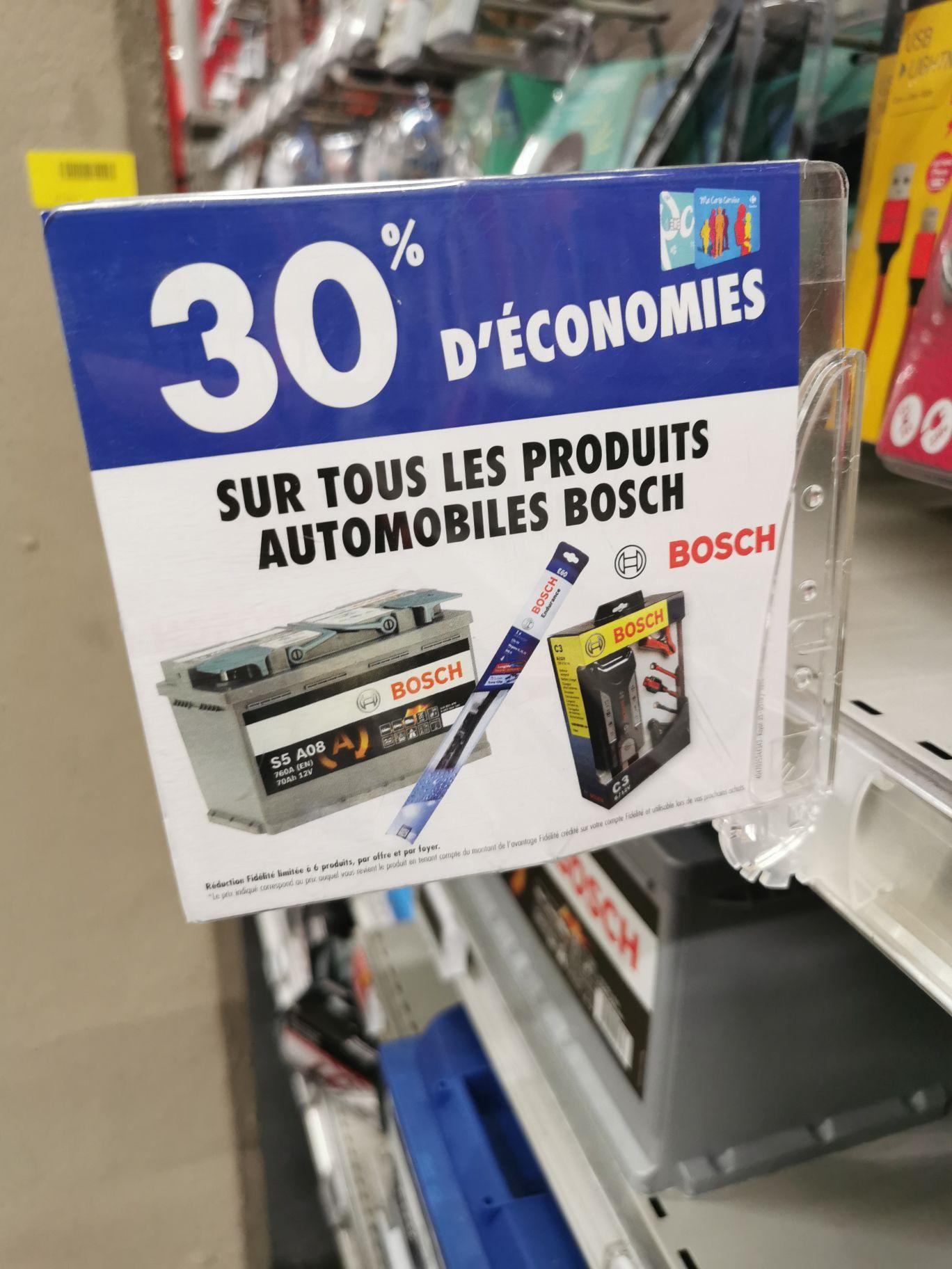 30% de remise fidélité sur les produits auto Bosch - Carrefour