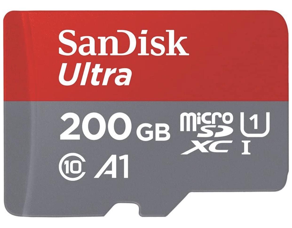 Carte microSDXC Sandisk Ultra - 200 Go + adaptateur SD