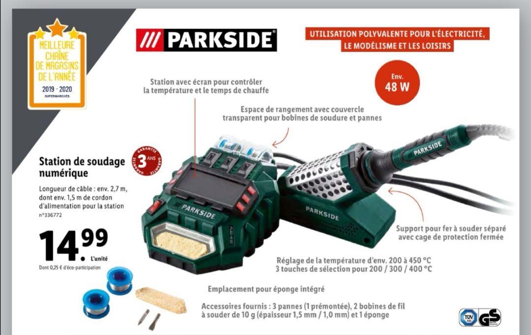 Station de soudage Numérique avec écran intégré Parkside