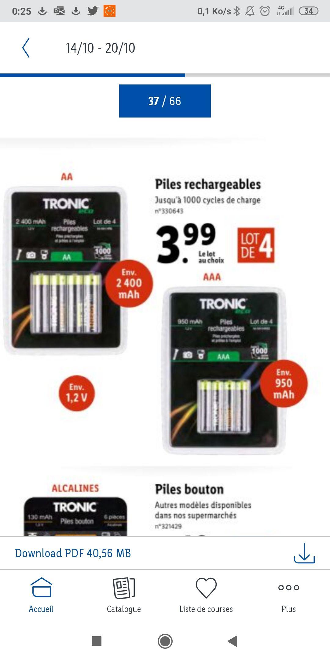 Pile rechargeable - AA 2400mah ou AAA 950mah