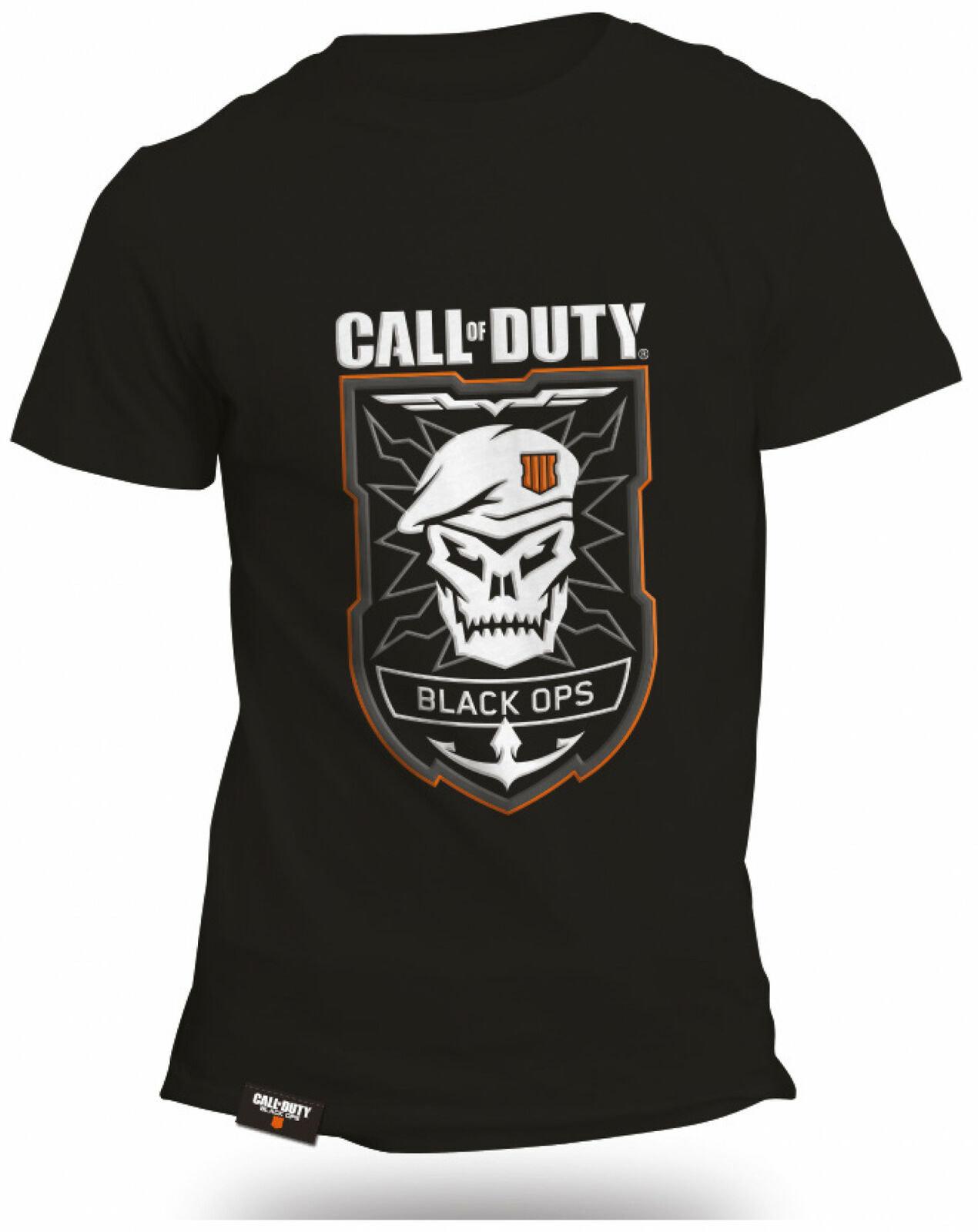 T-Shirt Call of Duty Black Ops 4 - Taille M à 7.01€, Tailles L et XL à 9,07€