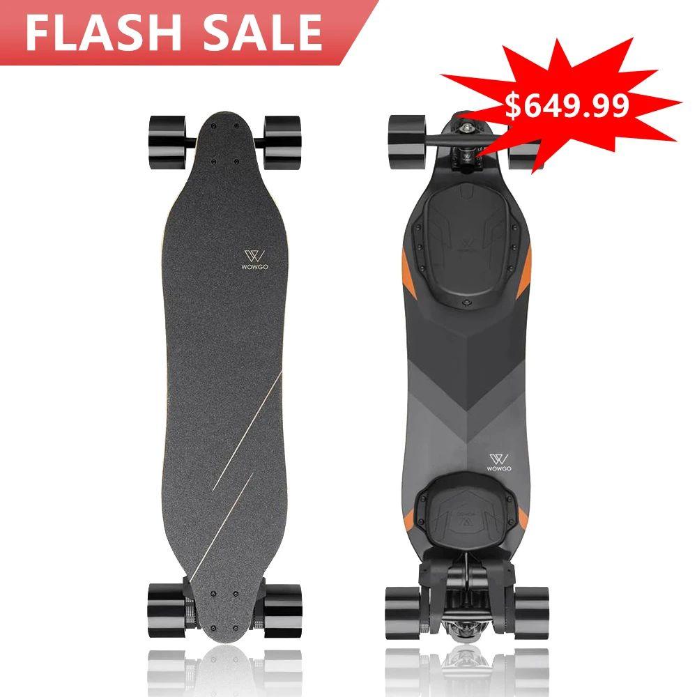 Skateboard électrique WowGo 3X - Noir (wowgoboard.com)