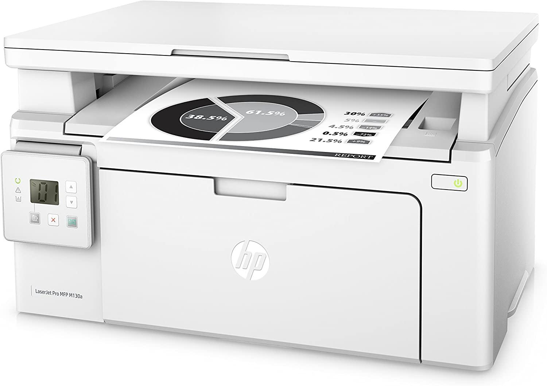 Imprimante Laser Monochrome Multifonction HP LaserJet Pro M130a, sans Wifi (via ODR 40€)