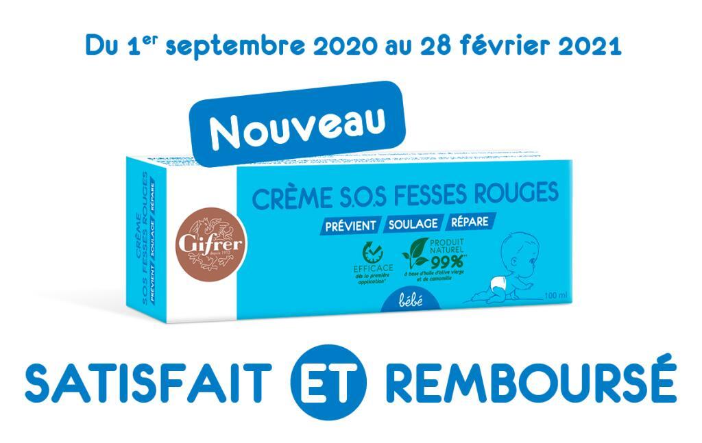 Crème Gifrer S.O.S. Fesses Rouges bébé - 100ml (100% Remboursé via ODR)
