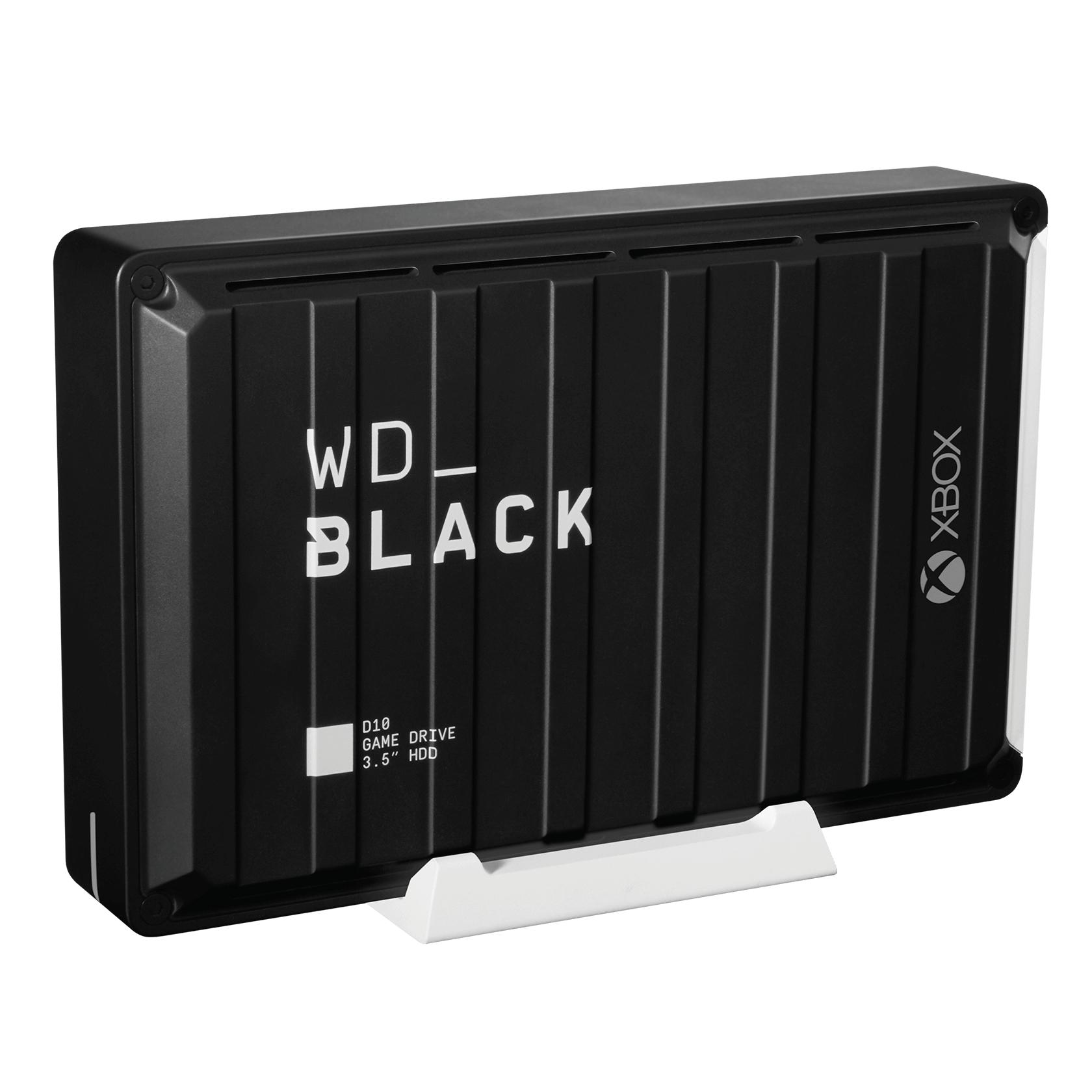 """Disque dur externe 3.5"""" Western Digital WD_Black D10 - 12 To + 3 Mois d'Abonnement Xbox Game Pass Ultimate"""