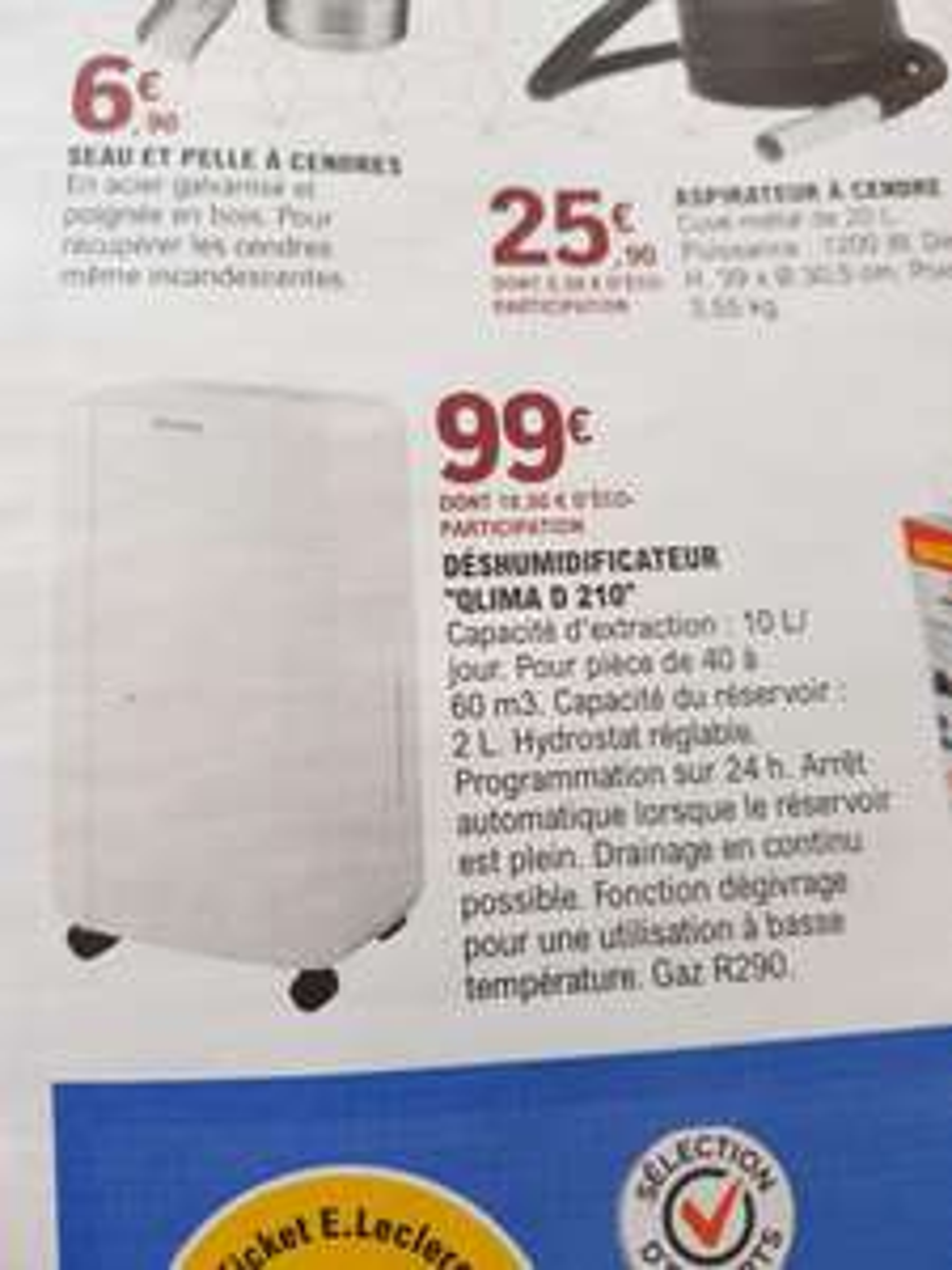 Déshumidificateur Qlima D 210 - 10L / jour - Sélection de magasins