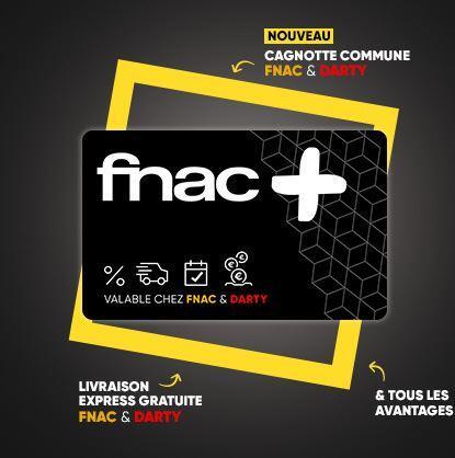 Carte Fnac + à 4.99€ la première année ou gratuite pour les adhérents Fnac / Fnac+ pour tout achat de plus de 1€