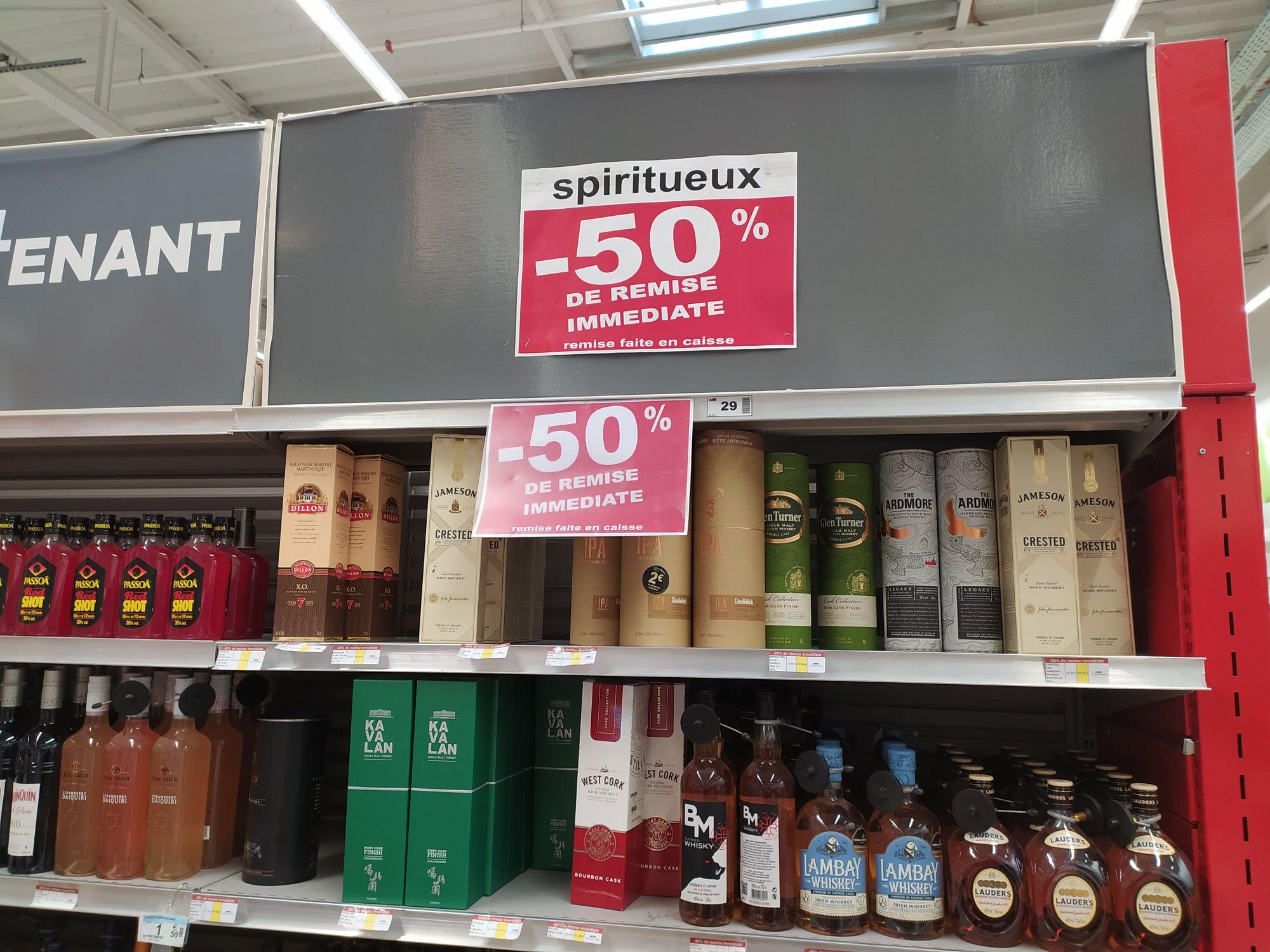 50% de remise immédiate sur une sélection de Bouteilles de Whisky - Dax (40)