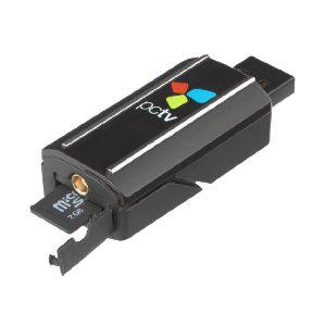 PCTV Nano Tuner TNT HD DVB-T USB avec logiciel TVCenter, Lecteur de cartes Micro SD, Télécommande
