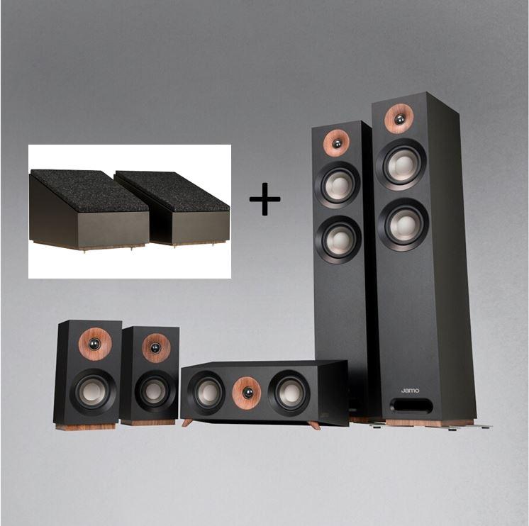 Pack d'enceintes home cinéma Jamo S807HCS + Enceintes Dolby Atmos S8ATM - 5.0.2, Black