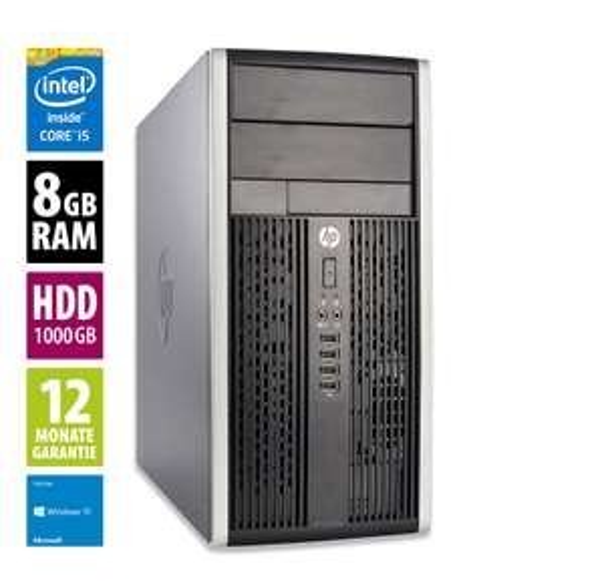 PC HP Compaq Pro 6300 MT - Core i5-3470 3.4 ghz, 8Go de ram, Disque Dur 1To Windows 10 Famille (Reconditionné)