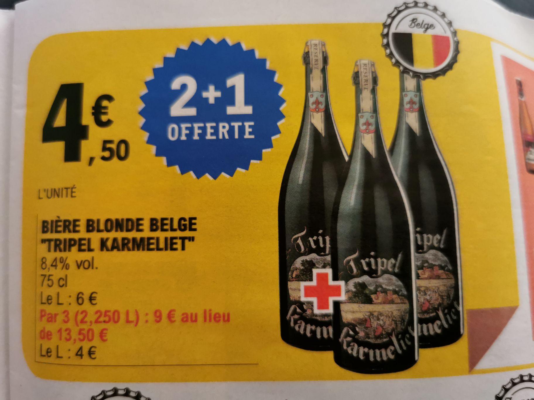 Lot de 3 Bières blondes tripel Karmeliet - 75cl