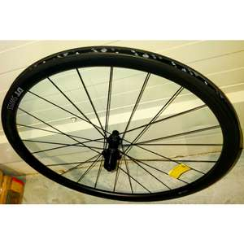 Paire de Roues route Roues vélo route carbone DT Swiss PRC 1400 Spline 35 Carbon - Noir