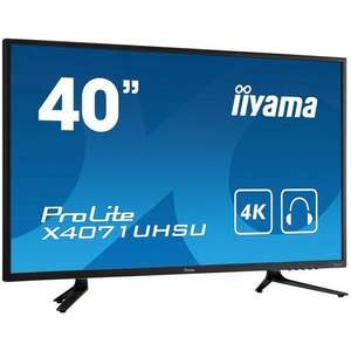 "Ecran 40"" Iiyama ProLite X4071UHSU-B1 - 4K, 3 ms, DisplayPort / HDMI (x3) / VGA"