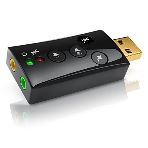 Carte son externe USB 2.0 CSL - Avec touches de contrôle du Volume, 7.1 Dynamic Stereo