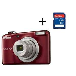 Appareil photo Nikon Coolpix L31 Rouge + Carte mémoire SanDisk 8 Go