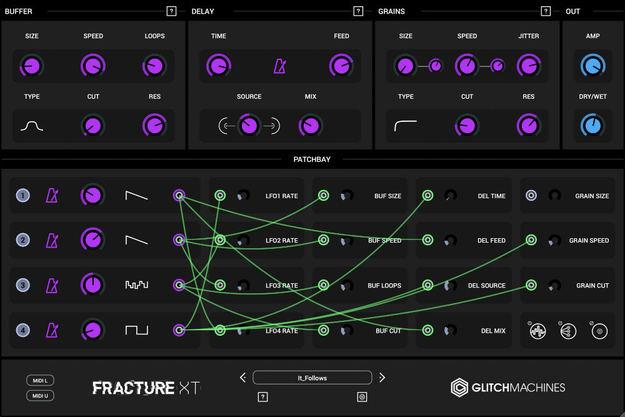 Sélection de Plugins Glitchmachines en Promotion - Ex: Fracture XT Multi-Effect (Dématérialisé - pluginboutique.com)