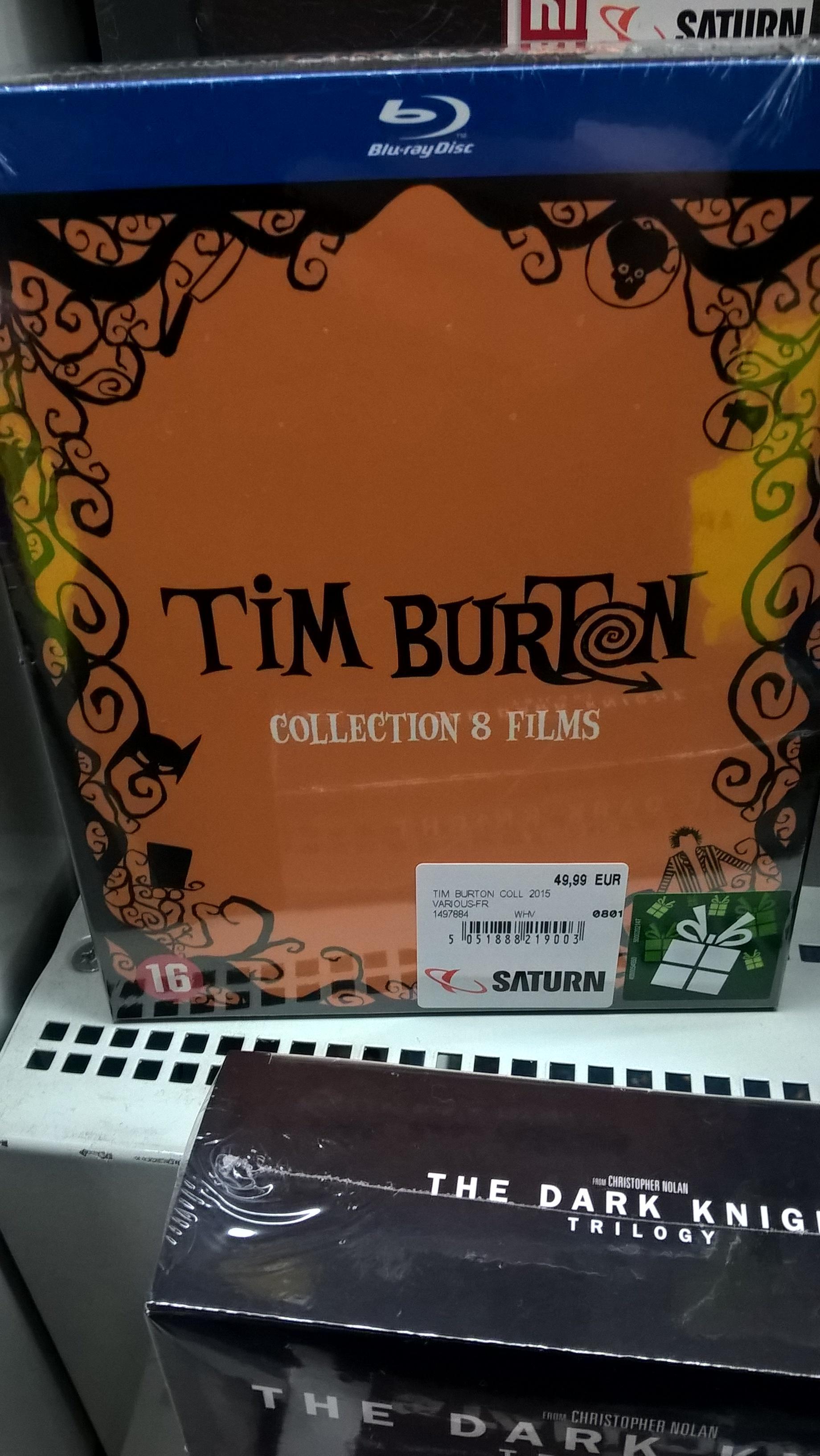 Sélection de coffrets Blu-ray en promotion - Ex : Tim Burton (9 films)