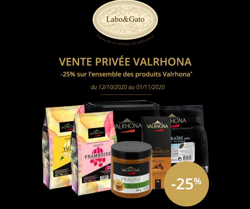 25% de réduction sur une sélection de produits Valrhona - laboetgato.fr