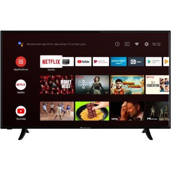 "TV 55"" Continental Edison CELED55SA20B3V2 - LED, 4K UHD, HDR 10, Dolby Vision, Android TV"