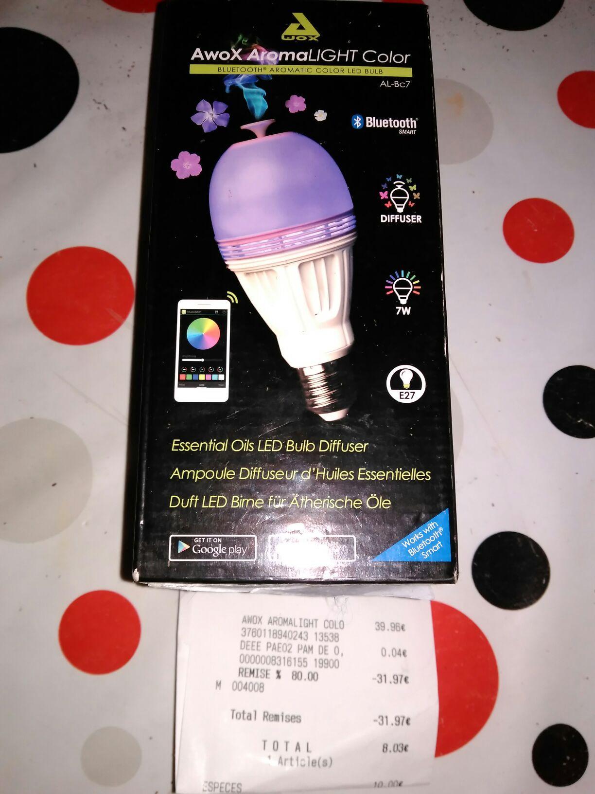 Ampoule connectée Awox Aromalight color la bc7
