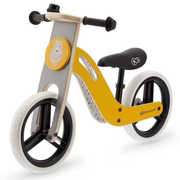 """Vélo Draisienne Kinderkraft en bois """"Uniq"""" - Dès 2 ans, roues 12 pouces, guidon antidérapant"""
