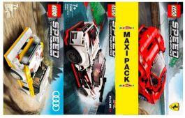 Maxi Pack Lego Speed Champions: Ferrari F8 + Nissan GT-R + Audi Quattro