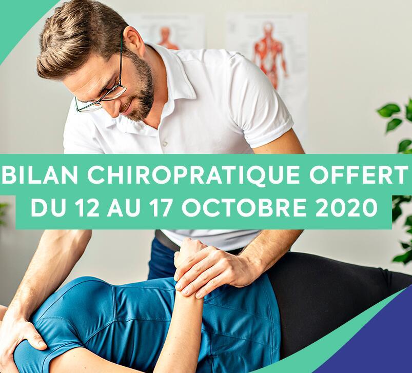 Bilan Chiropratique offert dans toute la France du 12 au 17 Octobre