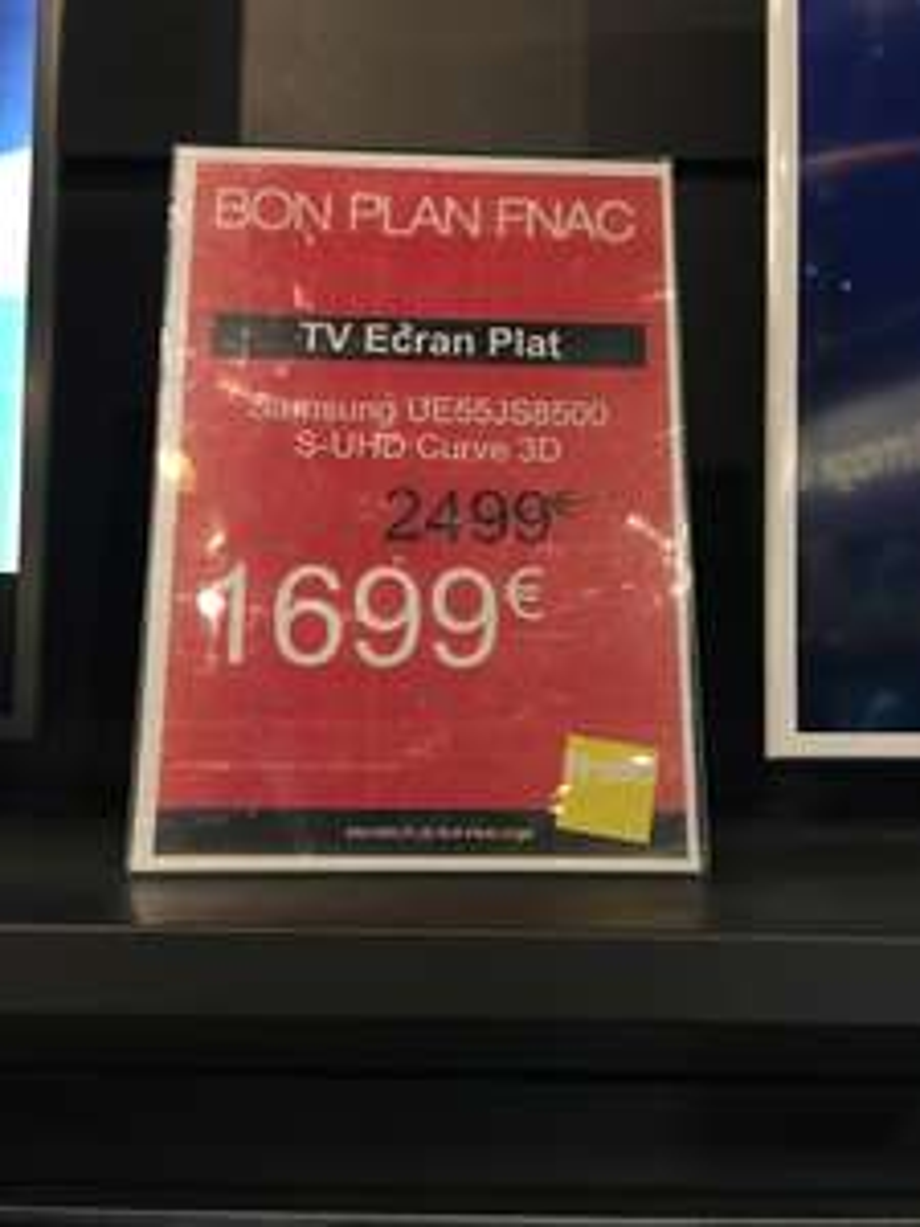 "TV 55"" Samsung UE55JS8500 - 3D, 4K SUHD, incurvé (via ODR de 200€)"