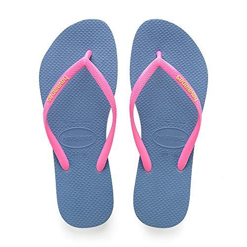 Tongs Havaianas Slim Logo pour filles - Tailles 23 à 30