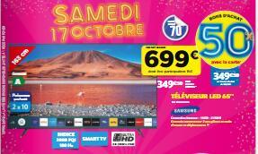 """TV 65"""" Samsung 65TU7125 - 4K UHD (Via 349.50€ en bon d'achat sous forme de 3 bons de 116.50€) - Sainte Eulalie (33)"""