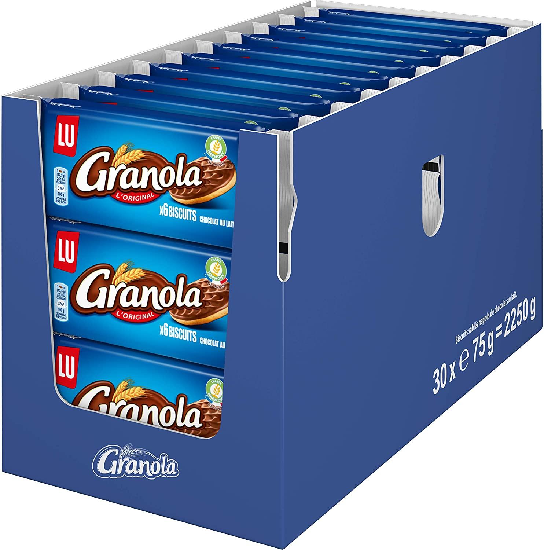 [Prime] Présentoir de 30 paquet de 6 Biscuits Granola Pocket Chocolat au lait