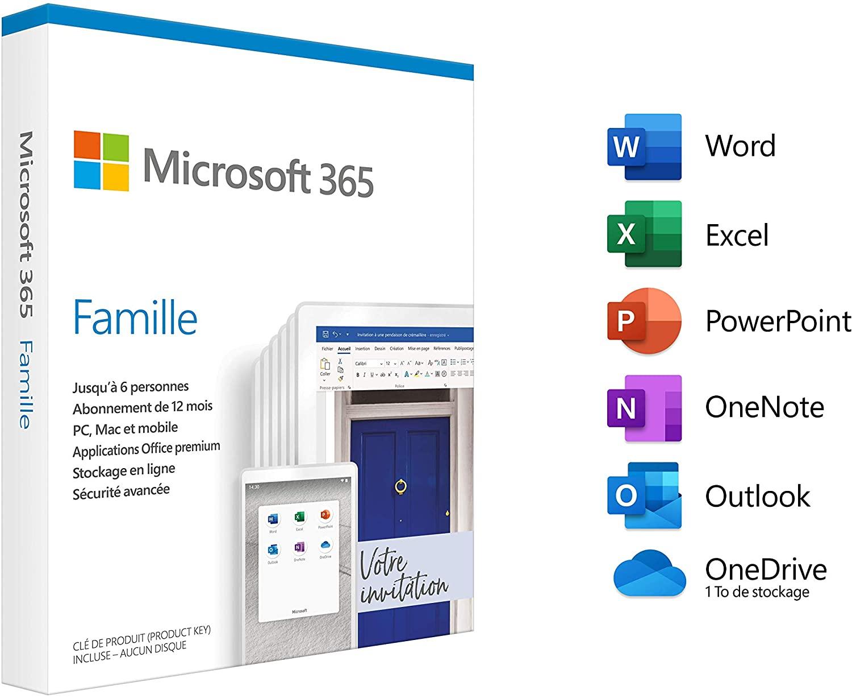[Prime] Abonnement Microsoft 365 Famille - 6 utilisateurs - 1 an