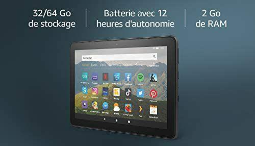"""[Prime] Tablette 8"""" Fire HD 8 - HD, 32 Go (Noir) - avec offres spéciales"""