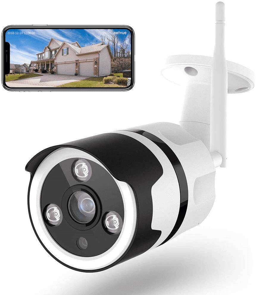 [Prime] Caméra de Surveillance WiFi Extérieure Netvue compatible Alexa - Full HD
