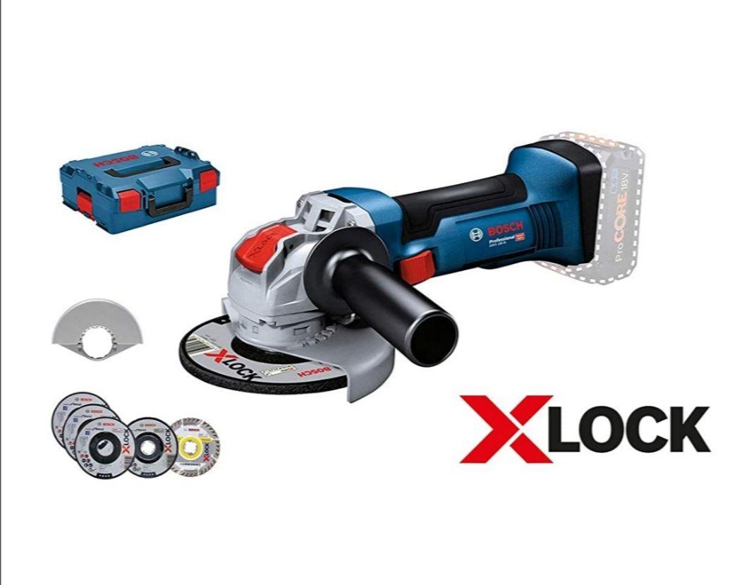 [Prime] Meuleuse d'angle sans fil Bosch Professional GWX 18V-8 - 125mm, X-Lock, 5 Disques Tronçonnage & Meulage, L-Boxx 136, Sans Batterie