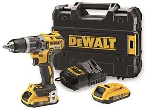 [Prime] Perceuse/visseuse DeWalt DCD796 (18V Brushless) + 2 Batteries 2Ah + Chargeur + Mallette de transport